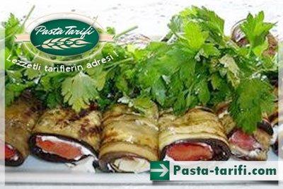 Peynir Çeşnili Rulo Patlıcan Tarifi