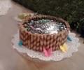 Çikolatalı Gofretli Pasta