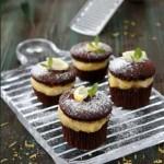 Limon Kremalı ve Çikolatalı Mini Kek Tarifi
