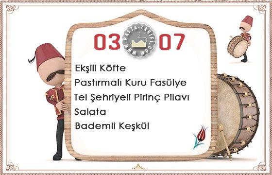 Ramazan İftar Menüsü 16