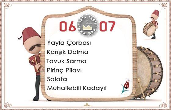 Ramazan İftar Menüsü 19