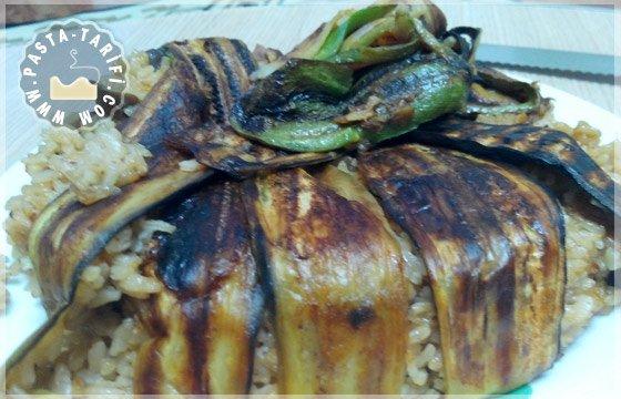 Patlıcanlı Perde Pilavı