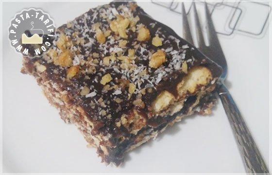 bisküvili pudingli pasta
