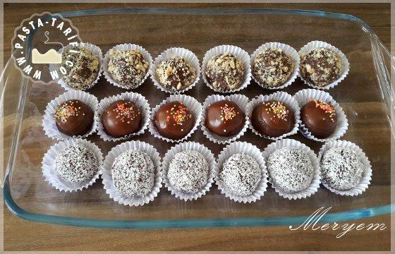 Çikolatalı Bisküvi Topları
