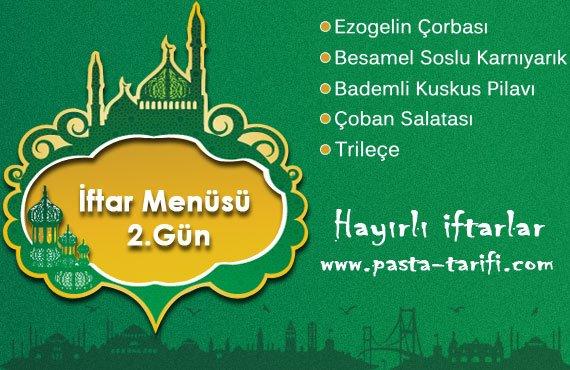 iftar menüsü, iftar menüleri, ramazan iftar menüsü