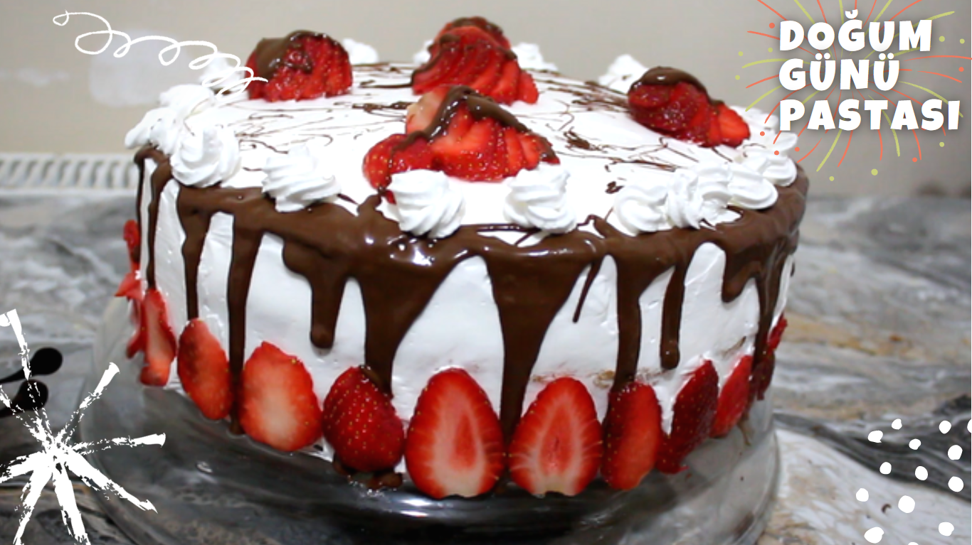 Çikolata Soslu Enfes Doğum Günü Pastası Tarifi