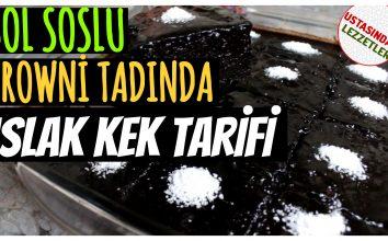 Islak Kek Tarifi – Bol soslu ıslak kek tarifi hem de browni tadında