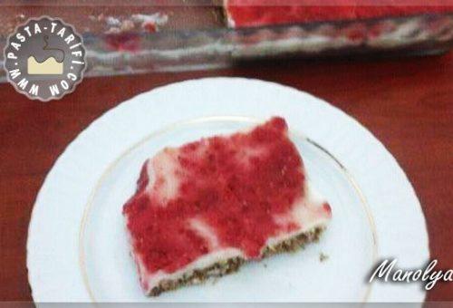 Bayat Kekli Muhallebili Frambuazlı Pasta