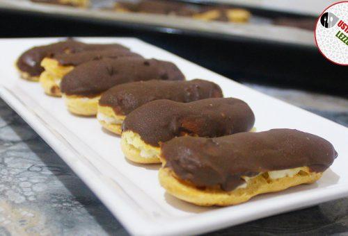 Ekler Tarifi Çikolatalı kolay ekler nasıl yapılır tarifi Ev yapımı ekler tarifi nefis yemek tarifleri