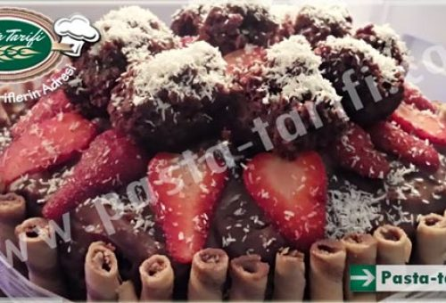 12 Kişilik Meyveli Pasta Tarifi