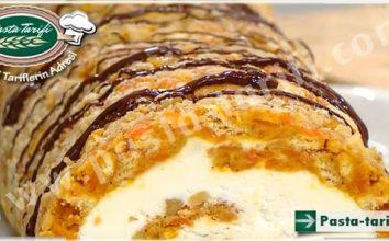 Havuçlu Bisküvili Rulo Pasta