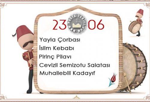 Ramazan İftar Menüsü 6