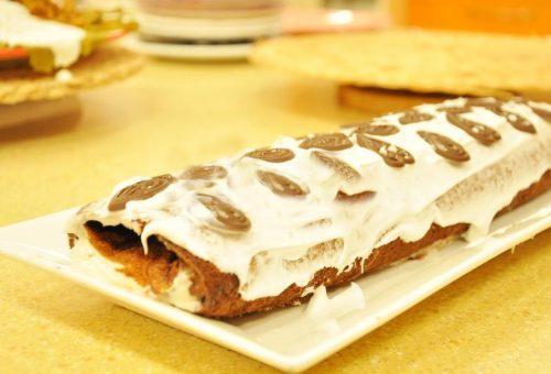 Kestane Şekerli Rulo Pasta Tarifi