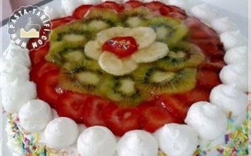 Meyve Şöleni Yaş Pasta Tarifi