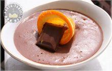 Portakal Parçacıklı Çikolatalı Muhallebi Tarifi
