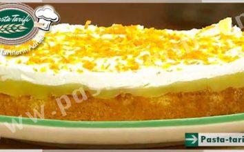 Portakal Pelteli Puf Pasta Tarifi