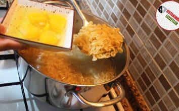 Sıradışı Makarna Tarifi Yumurtalı Makarna Nasıl Yapılır