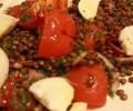 Mozzarella peynirli yeşil mercimek salatası tarifi